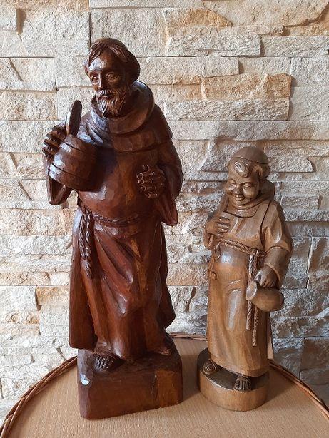 Rzeźba z drewna, Mnich z dzbanem, Mnich z kluczami