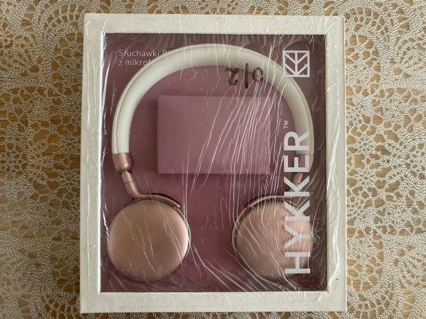 Damskie nauszne słuchawki Bluetooth z mikrofonem Hykker