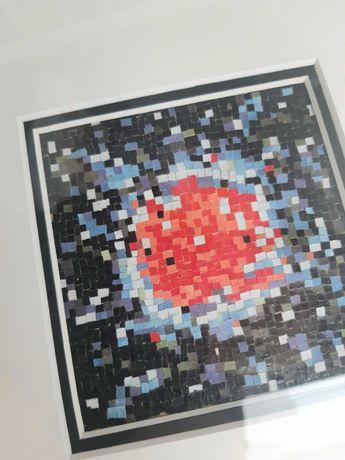 Мозаика, картина в раме, абстракция, графика