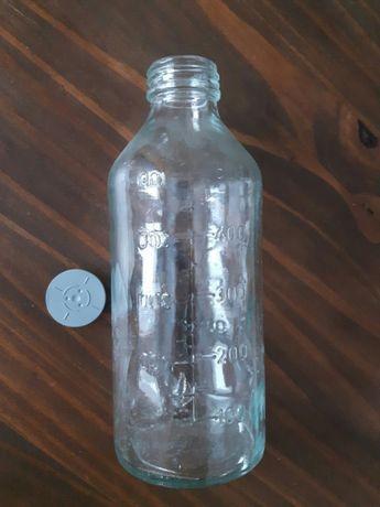 Stara butelka z podziałką medyczna szklana 500ml