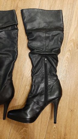 Кожаные сапоги Aldo, 38-39 размер, демисезон