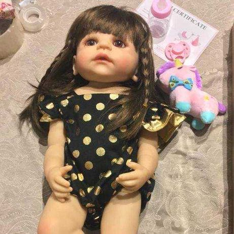 Boneca Reborn Toda em Silicone- barriga Silicone