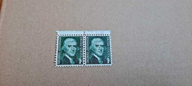 Zestaw Znaczek pocztowy Thomas Jefferson