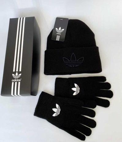 шапка + перчатки Nike Adidas мужская