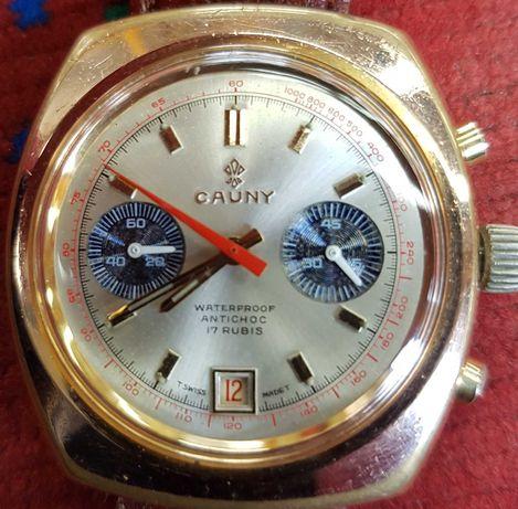 Relógio Cauny  cronografo ( Omega Breitling Longines IWC Tissot Tag )