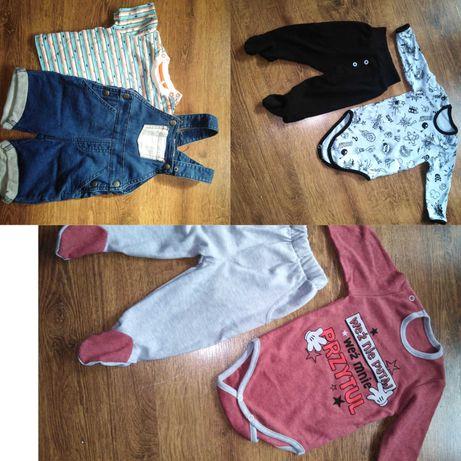 Ubranka Komplety niemowlęce chłopięce nowe i używane r. 62 i 68