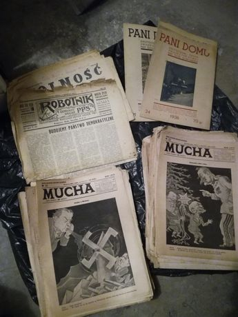 Tygodnik satyryczny Mucha z lat 1928-39, 192 szt