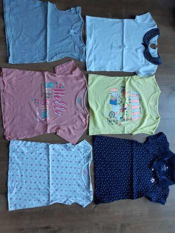 Mega paka koszulek dla dziewczynki, krótki rękaw,rozm.110-116, 16 szt.
