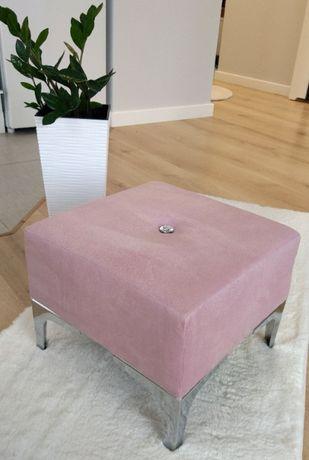Przepiękna pufa glamour pudrowy róż - handmade