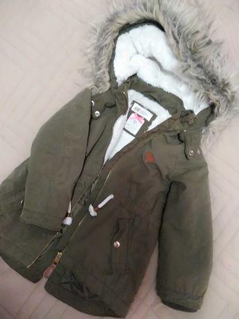 Куртка демисезонная h&m 98 размер на 2-3 года для девочки