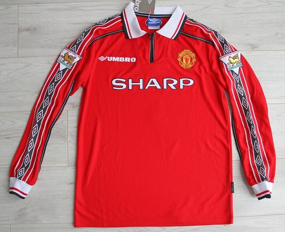 MANCHESTER United Retro Home 98/99 Umbro #7 Ronaldo, roz. L