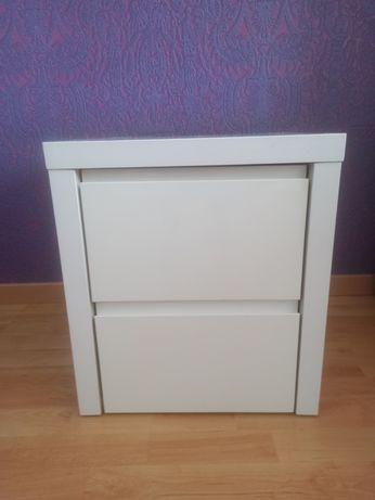 2x szafka nocna biała lakierowana