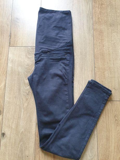 Spodnie ciążowe hm h&m 34 xs granatowe