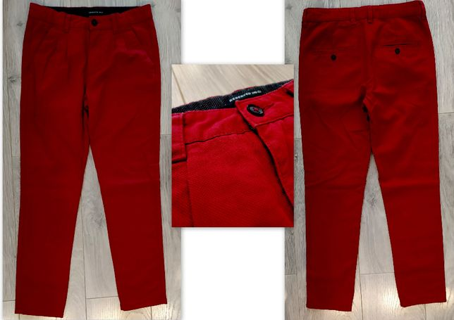 r. 146 cm spodnie Reserved bordowe, jak Nowe