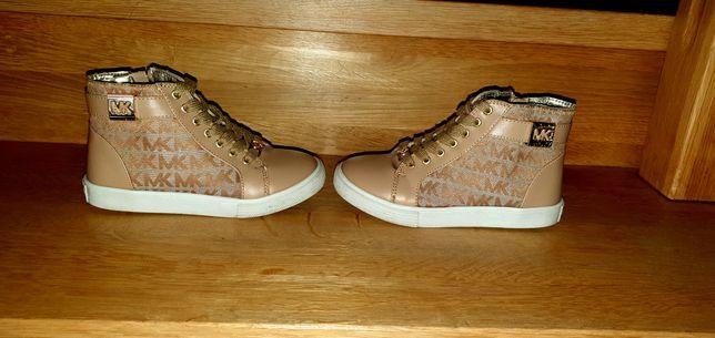 Wysokie Adidasy MICHAEL KORS z USA rozmiar 32, długość wkładki 21,5cm