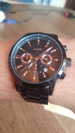 Elegancki zegarek męski na rękę LIGE nowy chronograf