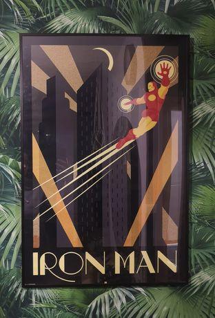 Rama czarna Ikea plakat retro Iron Man