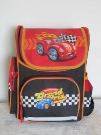 рюкзак школьный машинки каркасный ергономічний