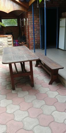 стол и лавка для беседки
