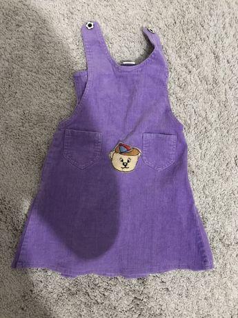 Sukienka sztruksowa dziewczęca rozmiar 116