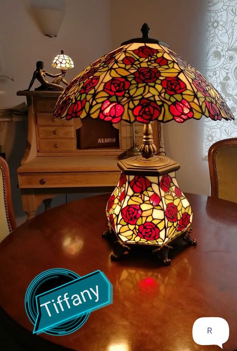 Ogromna lampa witrażowa Tiffany Bolesławiec - image 1