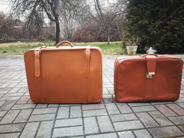 Retro skórzane walizki