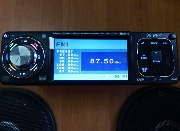 Radio samochodowe DVD USB MP3 Denver Cat-135 1Din