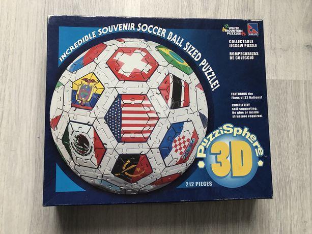 Puzzle 3D piłka, 212 elementów.