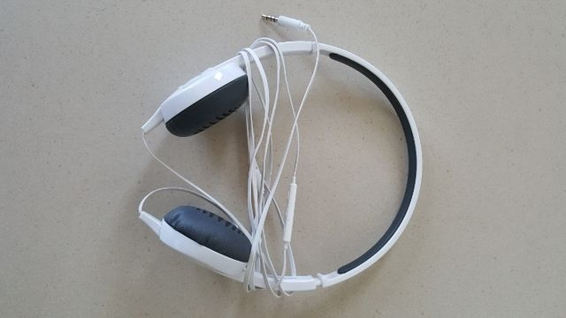 Słuchawki Hama białe nowe