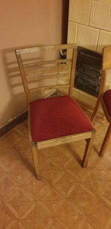 Krzesła w super stanie, antyki, odnowione. Art deco.