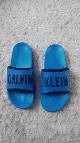 Oryginalne klapki Calvin Klein niebieskie