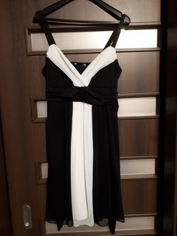 Sukienka Bonprix 36 biało-czarna