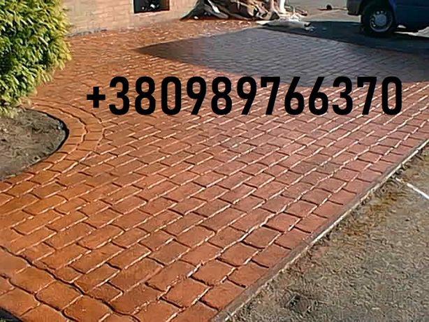 Укладка тротуарной плитки вокруг дома, магазина, ресторана