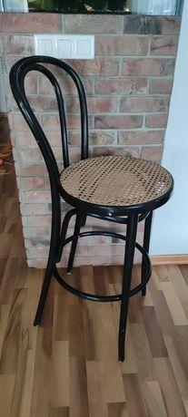 Krzesło barowe Thonet plecionka Radomsko