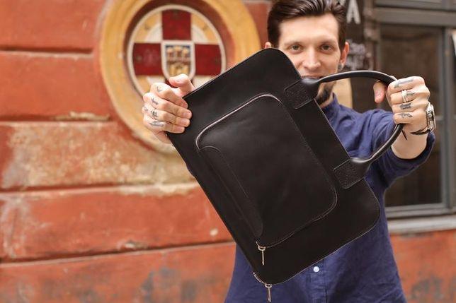 Кожаная сумка от Gmakin для macbook air/pro
