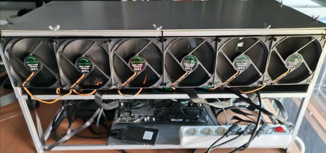 Mining rig 4x RTX 3070 - Pronta a minerar 253MH/s