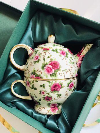 Набор заварник чашка фарфоровый кружка чайник