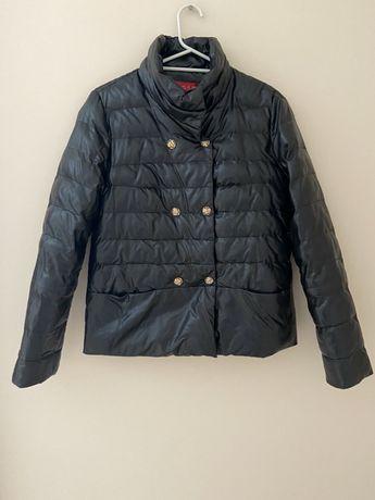Коротка куртка шкірзамінник
