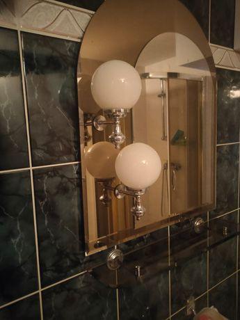 Lustro łazienkowe i oświetleniem stan BDB