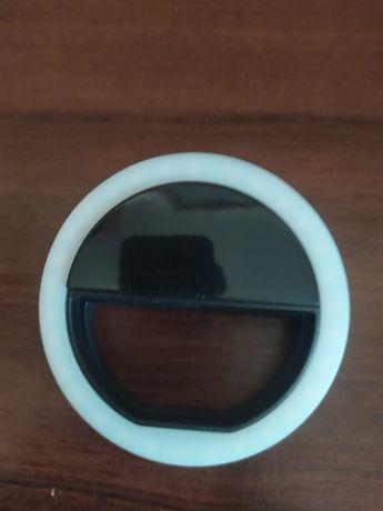 Вспышка-подсветка для телефона Selfie Ring Ligh черное