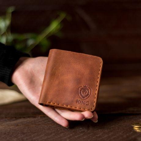 Новый кожаный кошелек, портмоне, гаманець, именной подарок, подарунок