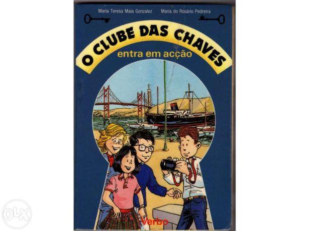 """Livro """"O Clube das Chaves Entra em Acção"""""""