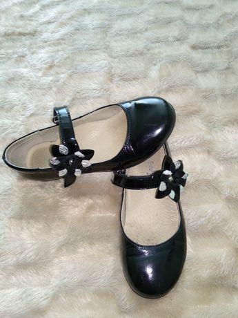 Кожаные туфли школьные. Lapsi 31р 20,3см.