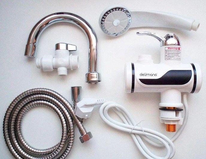 Оригинал! DELIMANO Проточный водонагреватель на кран. Мини бойлер Днепр - изображение 1