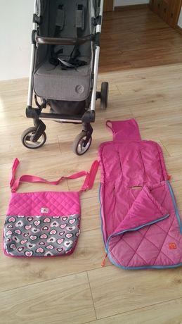 Wkładka/śpiworek do wózka +torba do wózka/organizer+ parasolka