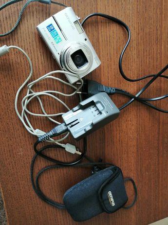 Máq Fotog. Digital Olympus FE-200, bolsa, bateria e carregador