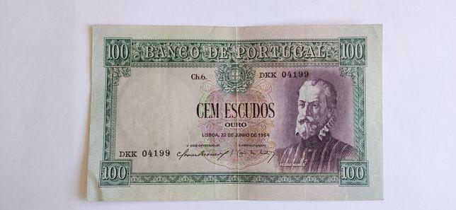 Cem Escudos 1954 Pedro Nunes