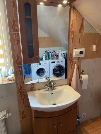 Zestaw szafka łazienkowa + zlew + bateria + lustro + szafka