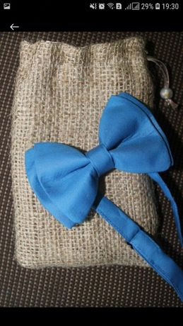 Галстук-бабочка в чехле подарок / краватка / синяя новая