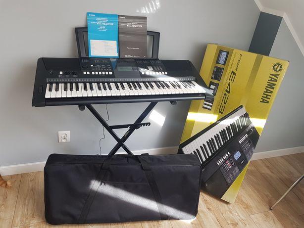 Keyboard Yamaha PSR E 423 zestaw